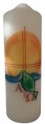 Osterkerze - 60 049 - Sonne-Wasser-Fisch