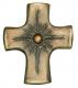 Kreuz mit Perle - Bronzekreuz